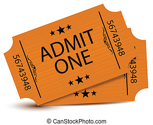 Set of tickets isolated over a white background
