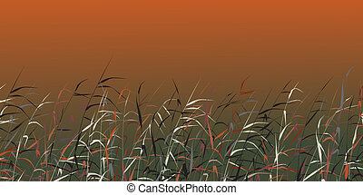 Reedy - Editable vector background of colorful reeds
