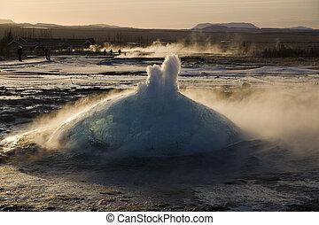 Eruption of Stokkur geyser
