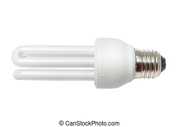 CFL light bulb isolated - Perfectly isolated no shadows CFL...