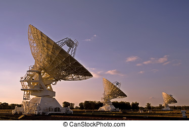 Three Compact Array Telescopes - three radio telescopes...