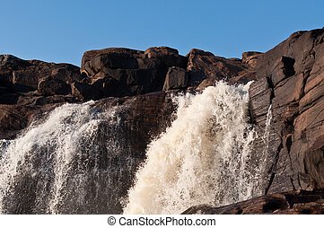 Muskoka Waterfall - High Falls near Bracebridge, Ontario,...