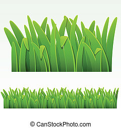Grass border - Grass green bordercan be repeated and scaled...