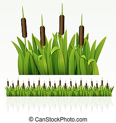 Grass border - Grass green border from reed can be repeated...