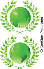 Green earth - Vector illustratiion of green earth