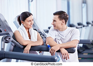 At the fitness club