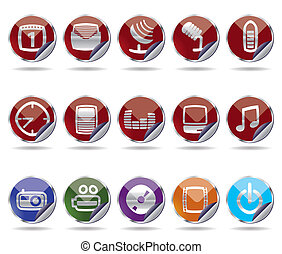 mobile phone icons  performance