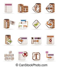 Database and table icons