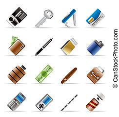 Realistic Vector Object Icons - Vector Icon Set