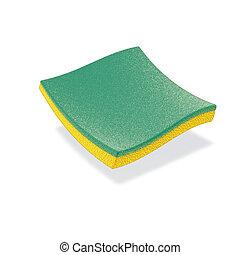 green sponge - 3d ilustration, green sponge