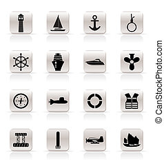 Simple Marine, Sailing and Sea Icon