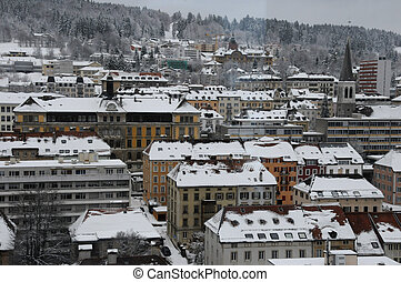La Chaux-de-Fonds, Switzerland - City of La Chaux-de-Fonds,...