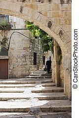 The streets of Old Jaffa - The streets and houses of Old...