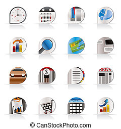 Business and Office icons - Business and Office Realistic...