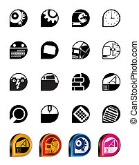 Computer, mobile phone icons