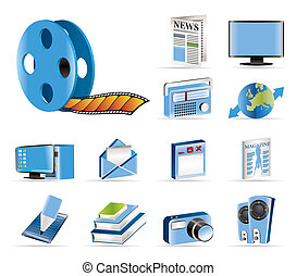 Media and information icons - Vecto