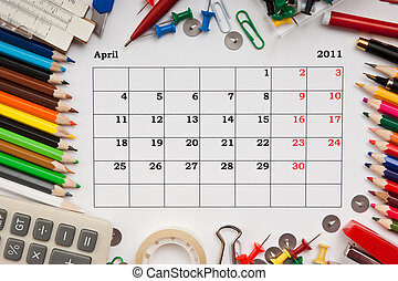 Calendar for April 2011 - a monthly calendarApril 2011...