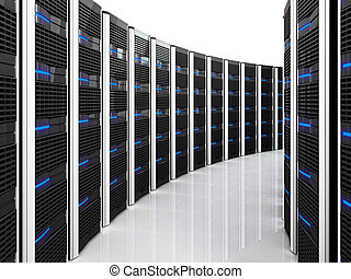 server 3d background - 3d image of datacenter with lots of...
