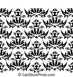 Damask (Victorian) seamless pattern
