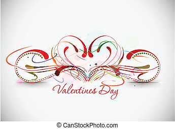 valentines day background - Abstract valentines day floral...