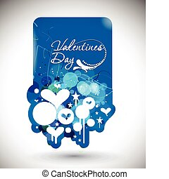 valentines day background - Abstract valentines day banner...