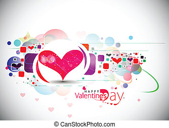 valentines day background - Abstract valentines day colorful...