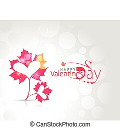 valentines day background - Abstract valentines day leaf...