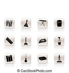 Simple Home objects and tools icons