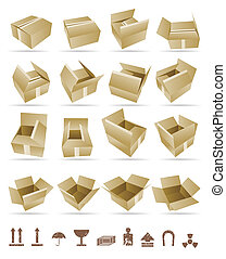 Vector Illustration of shipping box