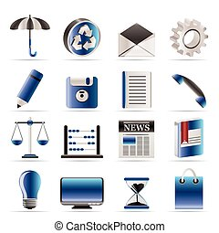 Business and Office internet Icons - Vector icon Set