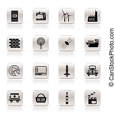 Simple Business and industry icons- vector icon set
