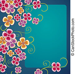 Floral background - Shiny floral background. No objects are...