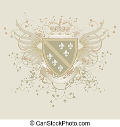 Vector coat of arms and Fleur-de-li - Vector coat of arms...