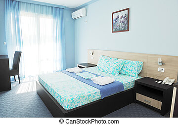 hotel room - fresh and clean hotel room indoor