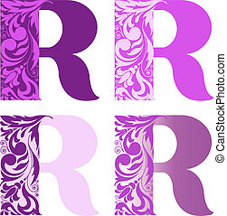 set of letters R