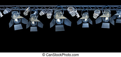Stage spotlight rack - Professional stage spotlight lamps...