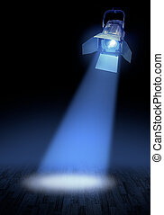 Stage spotlight glow - Professional stage spotlight lamp...