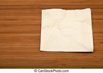 cocktail napkin - beige cocktail napkin on wooden Bamboo...
