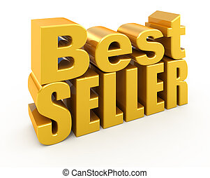 Bestseller sign isolated on white
