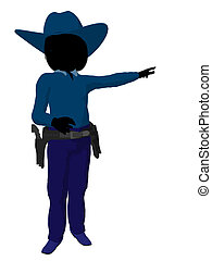 Teen Cowgirl Illustration - Teen cowgirl illustration...