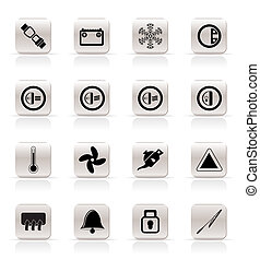 Car Dashboard icons -  vector icons