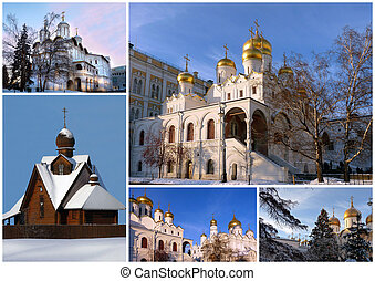 Orthodox churches, collage