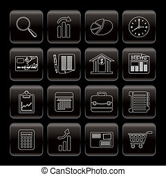 Line Business and Office  Internet Icons - Vector Icon Set 3