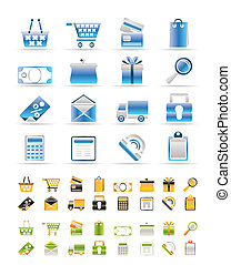 Online shop icons - vector icon set 3 Colors included