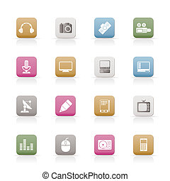 Media equipment icons