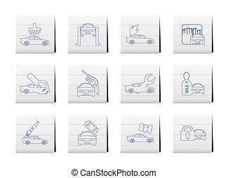 car and automobile service icon