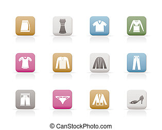 Clothing Icons - Vector Icon Set