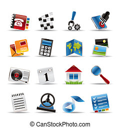 Mobile Phone and Computer icon - Vector Icon Set