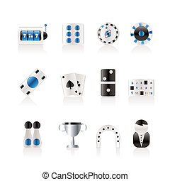gambling and casino Icons - vector icon set