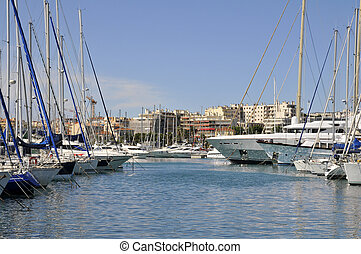 Port of Antibes in France - Port of Antibes on the...